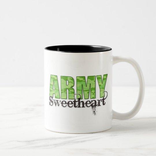 Army Sweetheart Two-Tone Coffee Mug