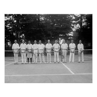 Army Tennis Team, 1920s Poster