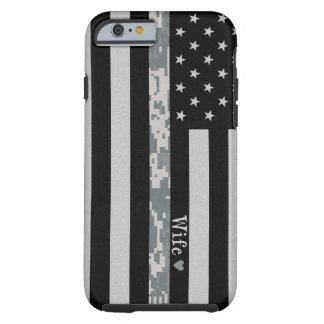 Army Thin Digi Camo Wife Line Flag iPhone 6 Case