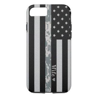 Army Thin Digi Camo Wife Line Flag iPhone 7 Case