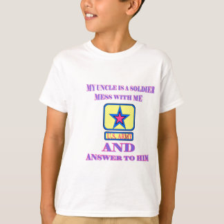 ARMY UNCLE PINK AND BLUE T-Shirt