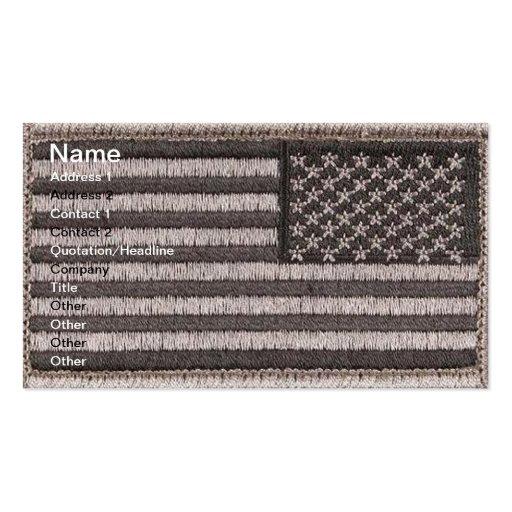 Army Uniform U.S. Flag (UCP Color) Business Cards