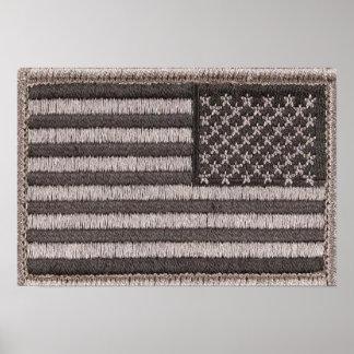 Army Uniform U.S. Flag (UCP Color) Poster