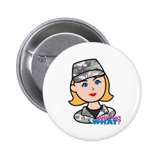 Army Urban Camo Head Blonde Pinback Buttons