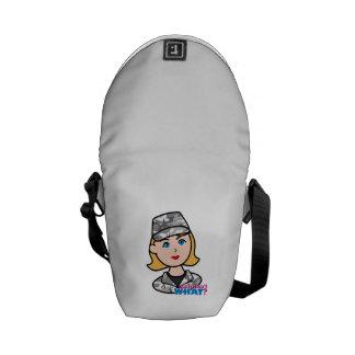 Army Urban Camo Head Blonde Messenger Bags