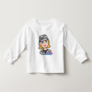 Army Urban Camo Head Blonde Toddler T-shirt