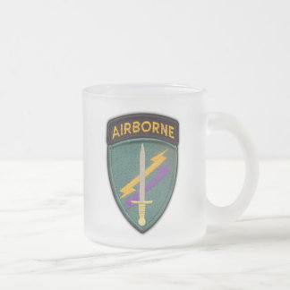 Army USACAPOC(A)  Psychological Operations Command Frosted Glass Coffee Mug