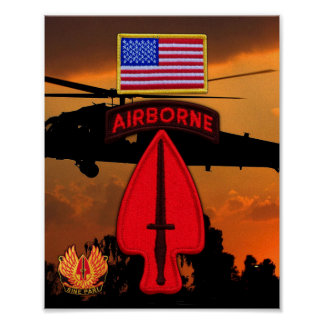 Army USASOC Special Ops LRRPS LRRP Recon Veterans Poster