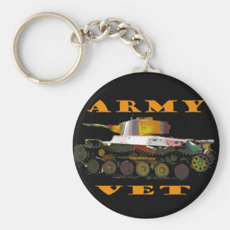Army Vet Classic Camoflague Tanker Keychain