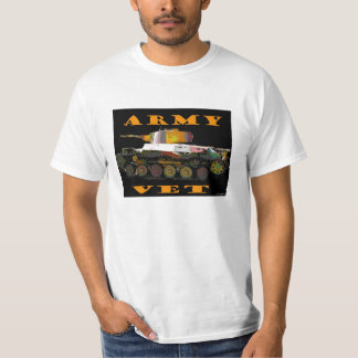 Army Vet Classic Camoflague Tanker Tshirt
