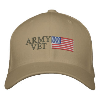 Army Vet with American Flag Cap