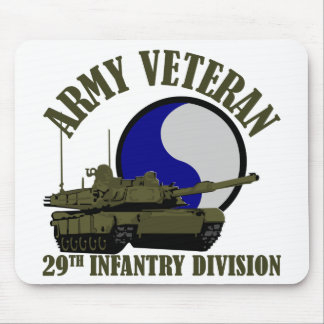 Army Veteran - 29th ID Tank Mouse Pad
