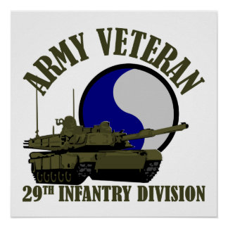 Army Veteran - 29th ID Tank Poster
