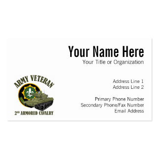 Army Veteran - 2nd ACR M551 Business Card