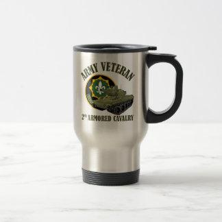 Army Veteran - 2nd ACR M551 Stainless Steel Travel Mug