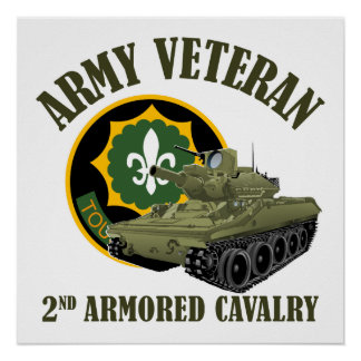 Army Veteran - 2nd ACR M551 Posters