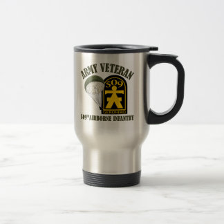 Army Veteran - 509th PIR Travel Mug