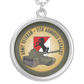 Army Veteran - M-48 Round Pendant Necklace