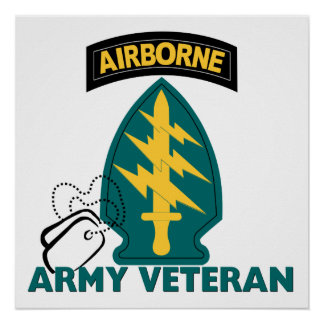 Army Veteran - Special Forces Poster