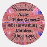 Army Video Game: Brainwashing Children Stickers