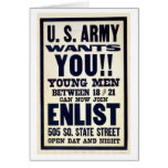 Army wants you!! cards
