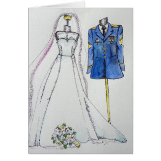 Army Wedding Card