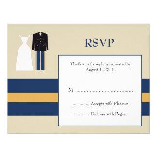 Army Wedding Invitation RSVP Card