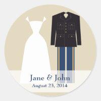 Army Wedding Label Sticker