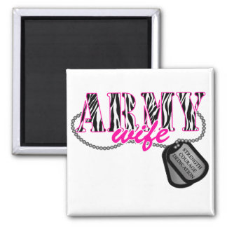 Army Wife 2 Inch Square Magnet