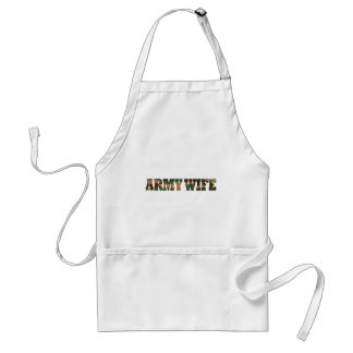 Army Wife Adult Apron