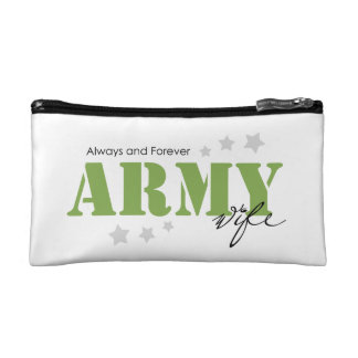 Army Wife - Always and Forever Cosmetic Bag
