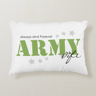 Army Wife - Always and Forever Decorative Pillow