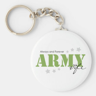Army Wife - Always and Forever Keychains