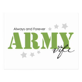 Army Wife - Always and Forever Postcard