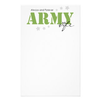 Army Wife - Always and Forever Stationery