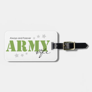 Army Wife - Always and Forever Tag For Luggage
