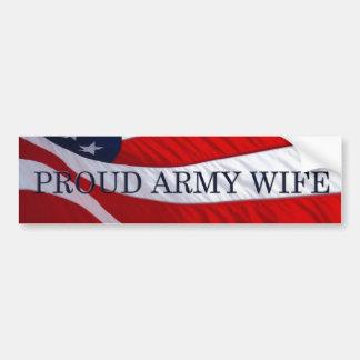 Army Wife American Flag Bumper Sticker