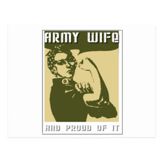 ARMY WIFE AND PROUD OF IT POSTCARD