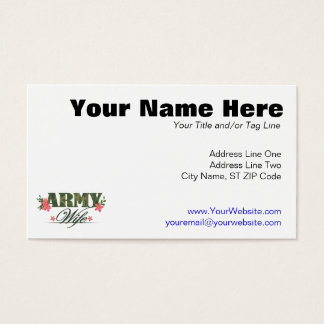 Army Wife Business Card