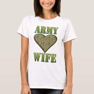 ARMY WIFE CAMO HEART T-Shirt