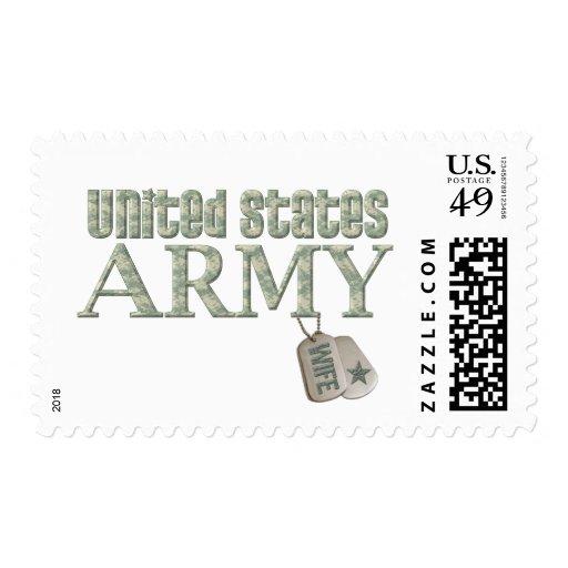 Army Wife - Camo Postage