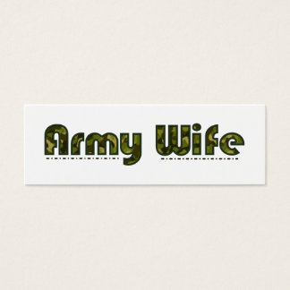 Army wife camouflage bookmark mini business card