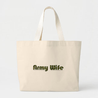Army wife camouflage tote bag