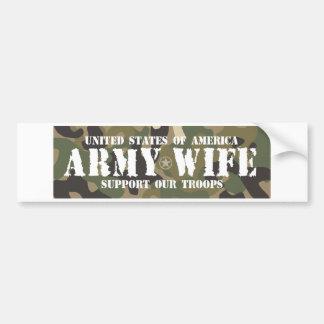 Army-Wife Car Bumper Sticker