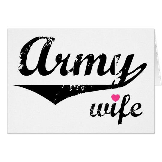 Army Wife Card