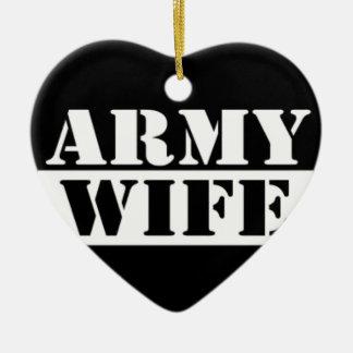 Army Wife Ceramic Ornament