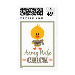 Army Wife Chick Postage Stamps
