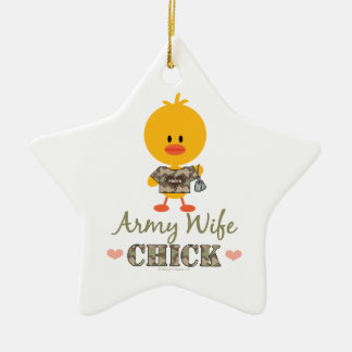 Army Wife Chick Star Ornament