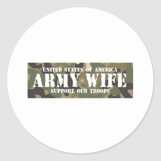 Army-Wife Classic Round Sticker