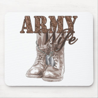 Army Wife Combat Boots N Dog Tags 1 Mouse Pad